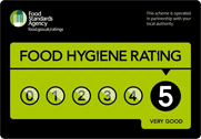 5 Star Rating - Food Standards Hygiene